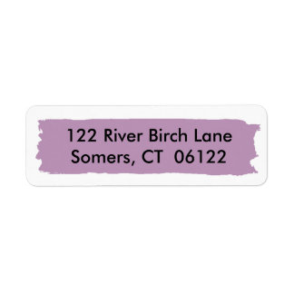 First Birthday Purple Ombre Cake, Matching Address Return Address Label