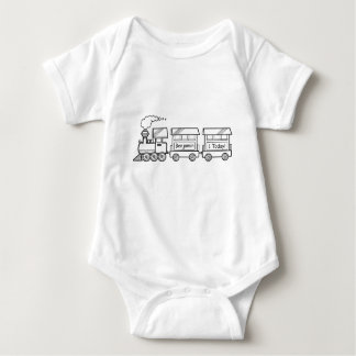 First Birthday Train Vest with Name Baby Bodysuit