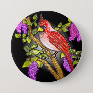"First Cardinal (3"" lapel pin) 7.5 Cm Round Badge"