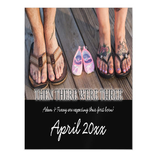 First Child Pregnancy Announcement Magnet Card