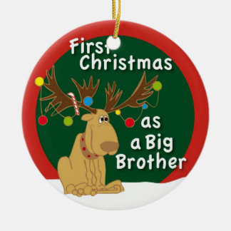 First Christmas as a Big Brother Ceramic Ornament