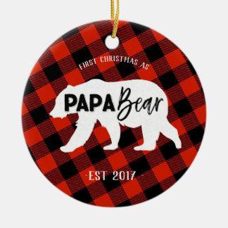 First Christmas as a Papa Bear Ornament