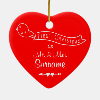 First Christmas as Mr & Mrs Personalized Ornament