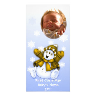 First Christmas/ Baby Photo Picture Card