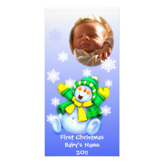 First Christmas/ Baby Photo Personalised Photo Card