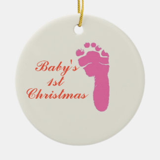 First Christmas Ceramic Ornament
