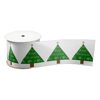 First Christmas Couple Gift Satin Ribbon