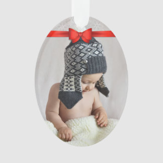 First Christmas Custom Photo Ornament