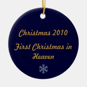 first christmas in heaven 2010 ceramic ornament