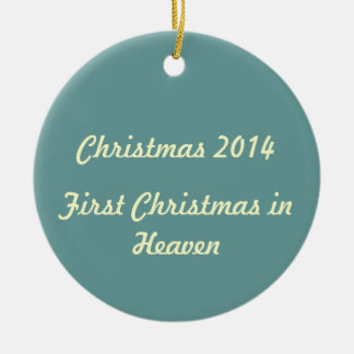 First Christmas in Heaven 2014 Ornament