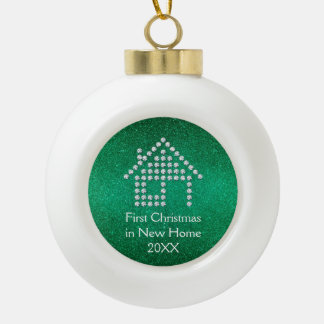 First Christmas in new home Ceramic Ball Decoration