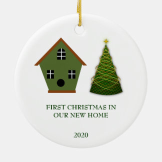 First Christmas in our new Home Christmas Ceramic Ornament