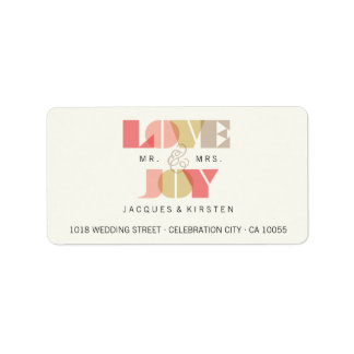 First Christmas Love & Joy Wedding Address Labels