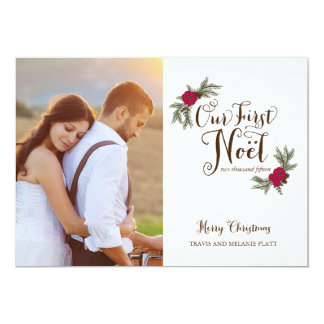 First Christmas Newlyweds Holiday Multi Photo Card 13 Cm X 18 Cm Invitation Card