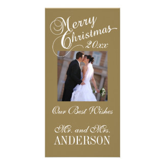 First Christmas Newlyweds Photo Cards