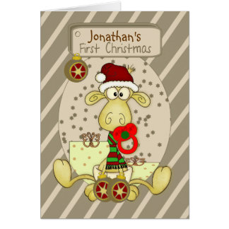 First Christmas Personalized Christmas Card