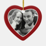 First Christmas Photo Frame - Heart Double Sided Christmas Ornament