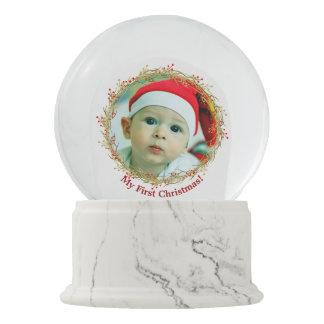First Christmas Photo gift Snow Globe