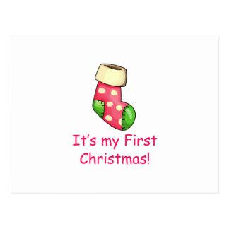 First Christmas Postcard