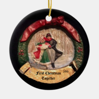 FIRST CHRISTMAS TOGETHER 2015 COLLECTOR ORNAMENT