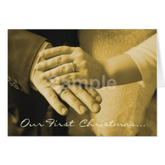 First Christmas Together Add Your Wedding Photo Card