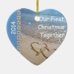 First Christmas TOGETHER BEACH 2014 CUSTOM ORNAMEN