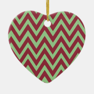First Christmas together chevron Ceramic Heart Decoration