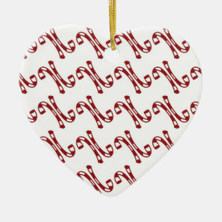 First Christmas together Ceramic Heart Decoration