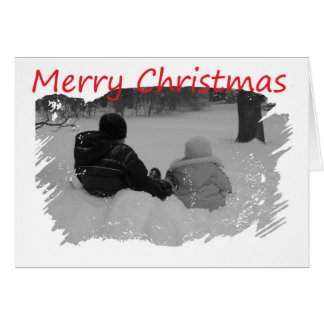 First Christmas Together - Kids In Snow Greeting Card