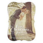 First Christmas Together Married Holiday Greetings Invite