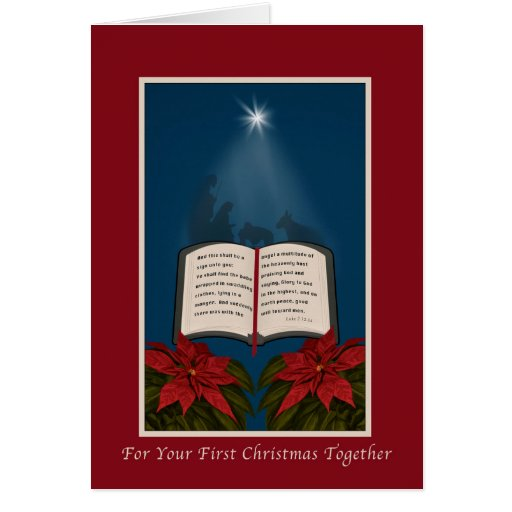 First Christmas Together, Open Bible Christmas Cards