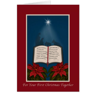 First Christmas Together, Open Bible Christmas Greeting Card