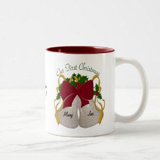 First Christmas Wedding Bells Mug