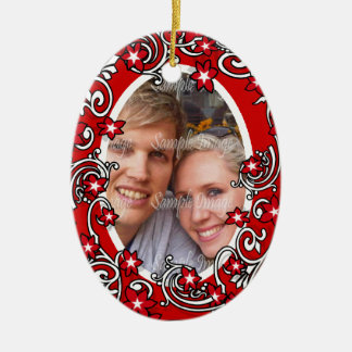 First Christmas wedding PHOTO Ornaments