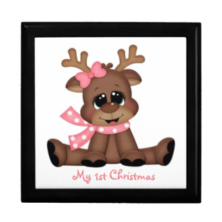 First Christmas with Rudolph Large Square Gift Box