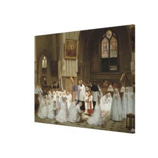 First Communion, 1867 Canvas Print