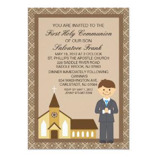 First  Communion Boy By Church Invitation