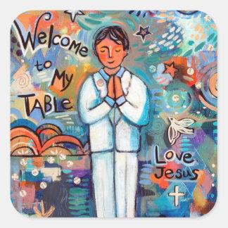 First Communion Boy Catholic Stickers