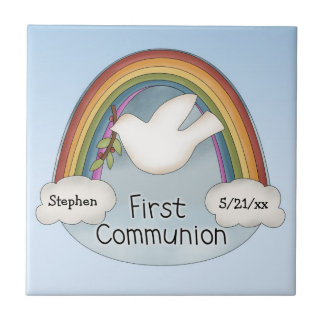 First Communion Ceramic Tile