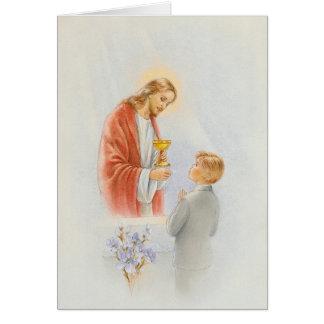 First communion confirmation boy card
