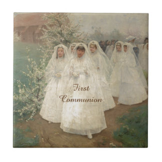 First Communion Small Square Tile