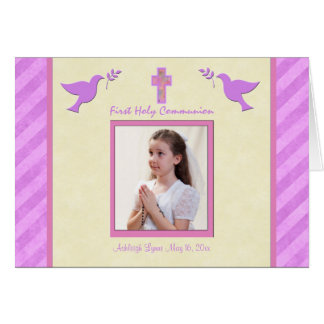 First Communion Thank You Card for a Girl