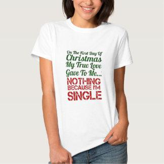 first day of christmas single tee shirt