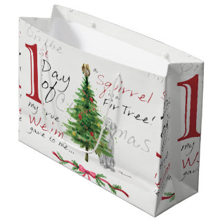FIRST DAY OF CHRISTMAS WEIMS LARGE GIFT BAG