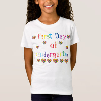 First Day of Kindergarten Girls' T-Shirt, rainbow T-Shirt