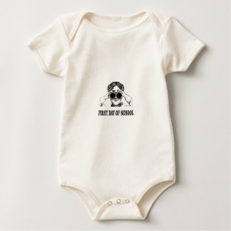 first day of school baby bodysuit