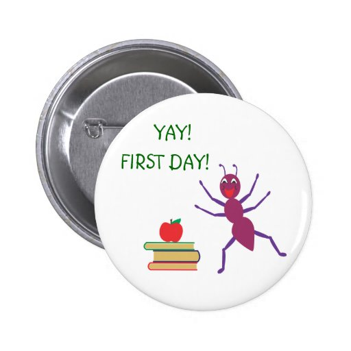 First Day of School Pins