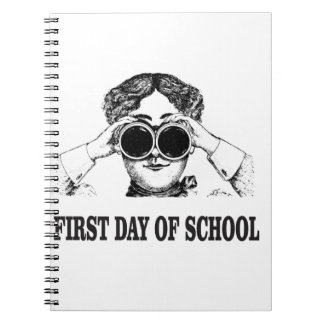 first day of school note books