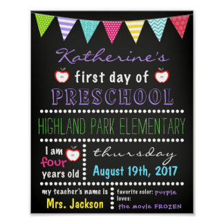 First Day of School Sign Chalkboard Back to School