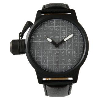 First Draft Alchemy Symbols Blackboard Chalkboard Wrist Watch